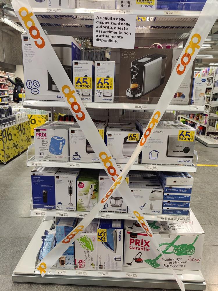 divieto di vendere piccoli elettrodomestici, in canton Ticino