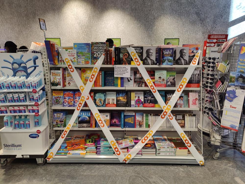 Durante la pandemia vietato vendere libri allo scaffale canton ticino