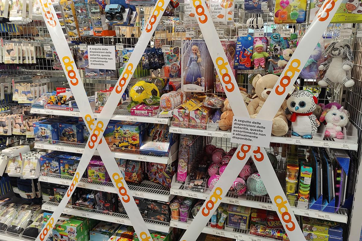 Impossibile comperare giocattoli per bambini da coop